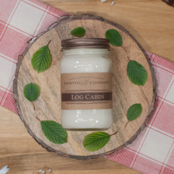 16oz Jar of Log Cabin Soy Candle