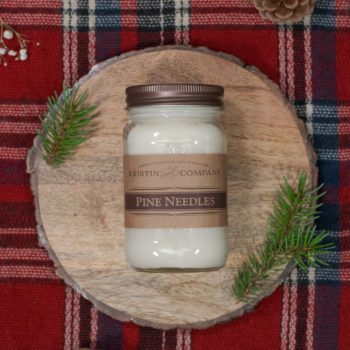16oz Jar of Pine Needles Soy Candle