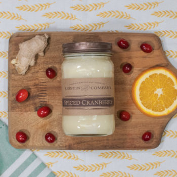 16oz Jar of Spiced Cranberry Soy Candle