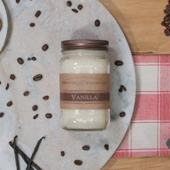 16oz Jar of Vanilla Soy Candle