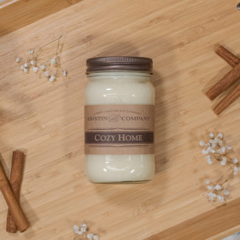 16oz Jar of Cozy Home Soy Candle