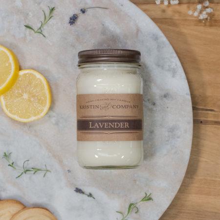 16oz Jar of Lavender Soy Candle