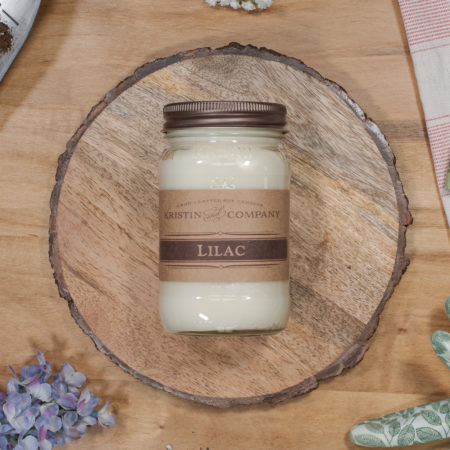 16oz Jar of Lilac Soy Candle