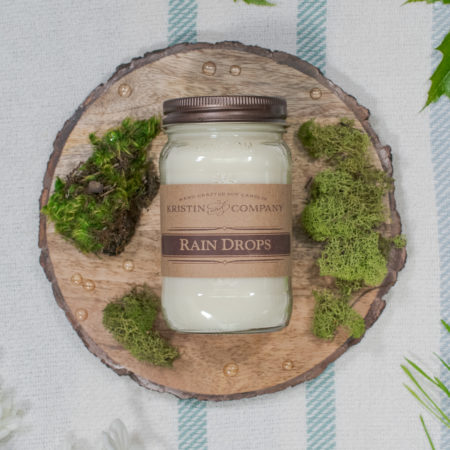 16oz Jar of Rain Drops Soy Candle