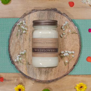 16oz Jar of Wildflowers Soy Candle