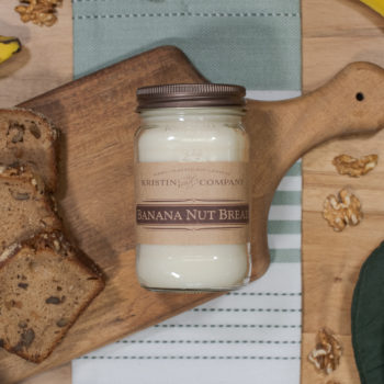 16oz Jar of Banana Nut Bread Soy Candle