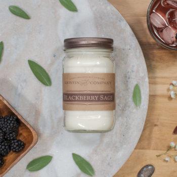 16oz Jar of Blackberry Sage Soy Candle